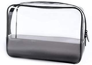 Travel cosmetic bag Pvc enhancive bag transparent decorative bag zipper wash bag waterproof multi-function storage bag AZJIABZ (Color : Clear, Size : 20 * 7 * 15cm)