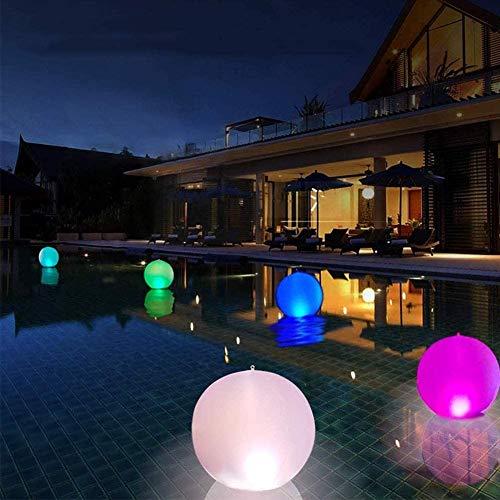 Flotador de piscina con luz LED, bola de playa, juguetes de 16 colores, bola flotante inflable con mando a distancia, decoraciones de fiesta para interiores y exteriores