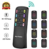 Key Finder Locator,Wireless RF Item Locator with Letters Key Tracker with 85DB Loud Beeping Sound and 115 Feet Remote Control 8 Receivers Anti-Lost Tags and Keychains
