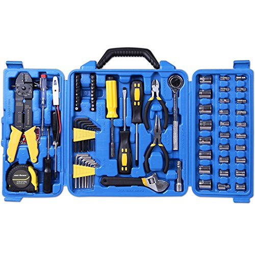 Cartman 122pcs Auto Tool Accessory Set, Drive Socket Set, Tool Kit Set, Electric Tool Set
