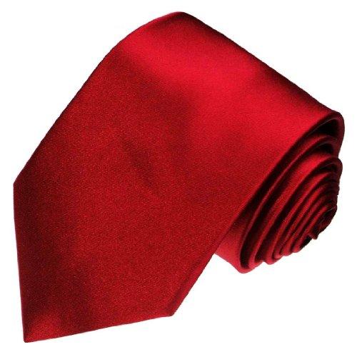 Lorenzo Cana - Weinrote Krawatte aus 100{5202f1c5c0d21af184d1ba83c21f1c5a12b5cf74713d4fa1efce7748389805a1} Seide Satinseide - Roter Seidenbinder - 84450