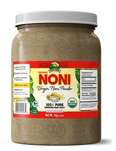 Virgin Noni Powder - 100% Pure Hawaiian Noni Powder 1 Kilo (2.2 lbs), Certified Organic