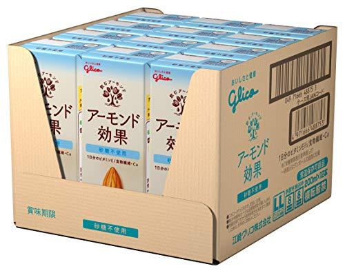 グリコアーモンド効果砂糖不使用アーモンドミルク200ml×24本常温保存可能