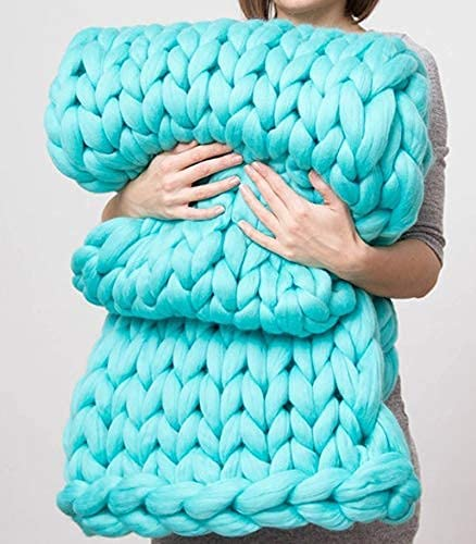 New color Giant Knit Blanket Ranking TOP7 Chunky Merino Hand Wool Thr Made