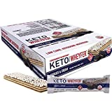 Convenient Nutrition Keto WheyFer Protein Snack Bars - Low Carb, Low Sugar, Ketogenic - Cookies & Cream10 Count Box