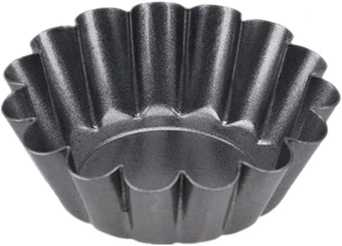 ZHQY 12pcs Tart Molds Carbon Virginia Beach Mall Pans Flower Mu Mini New York Mall Steel