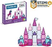 Tileblox Inspire 60 Piece Set Magnetic Building Blocks, Educational Magnetic Tiles Kit , Magnetic Construction STEM Toy Set