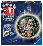 Ravensburger 3D Puzzle 11248 - Nachtlicht Puzzle-Ball Raubkatzen - 72 Teile - ab 6 Jahren, LED...