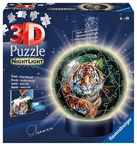 Ravensburger Puzzle 11248 Raubkatzen Nachtlicht Ravensburger 3D Puzzle 11248-Nachtlicht-Raubkatzen-72 Teile-ab 6 Jahren, Mehrfarbig