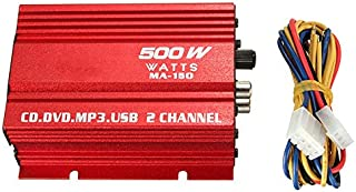 $21 » Mini Hi-Fi 12V 500W 2 Channel Stereo Audio Amplifier for Car Auto Motorcycle