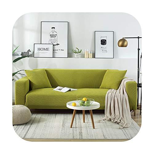 Fundas de sofá nuevas fundas elásticas elásticas para sofá de diferentes formas, color verde claro de 4 plazas (235-300 cm)