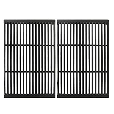 """Utheer Cast Iron Cooking Grid Grates for Gas Grill Models by CharBroil, Brinkmann, Charmglow, Broil-Mate, Grill Pro, Grill Zone, Sterling, Turbo, Grill Chef and Others, Set of 2, 19"""" x 25"""""""