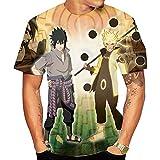 Camisetas,Hombres De Dibujos Animados Ninja De Manga Corta Informal Transpirable Unisex Impreso Ropa Color Mezcla De 3 Colores
