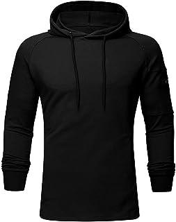 MODOQO Men's Pullover Long Sleeve Soft Warm Outdoor Sports Running Hoodies Sweatshirt