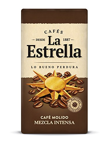 La Estrella Café Molido de tueste natural (50%) y torrefacto (50%) - Paquete de 250 gr