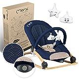 MOMI EBES Hamaca para bebés, acolchado suave, estructura de metal, pies antideslizantes, correa de sujeción |Peso 3,84 kg, 80 x 54 x 40 cm |Módulo sensorial para la manutención infantil creativa