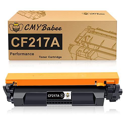 CMYBabee Reemplazo de Cartucho de tóner Compatible para HP 17A CF217A para HP Laserjet Pro M102w M102a MFP M130nw MFP M130fw MFP M130fn MFP M130a Impresoras (1 Paquete)
