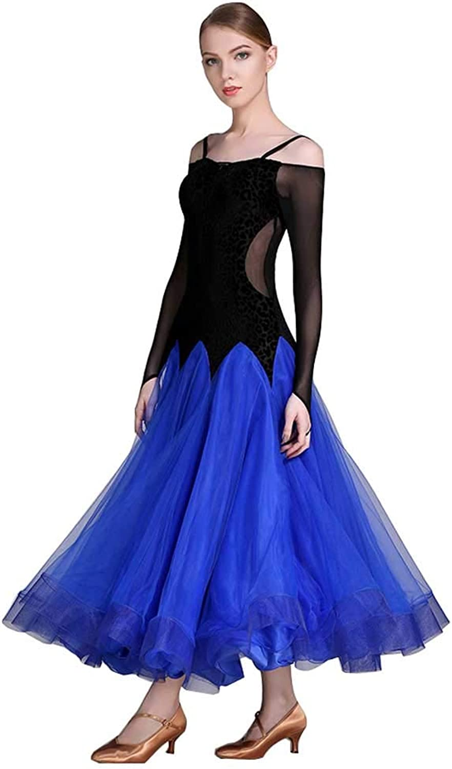 YTS Modern Dance Skirt Ballroom Dance Skirt, Female Adult Dress