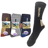 Smallrun* 6Pares Calcetines Trekking Hombre Calcetines de Deportivos inviernos esquí,Senderismo,montaña,Trabajo de Antiampollas,Pesca Mantiene los pies Secos Temperatura (H-6pares)