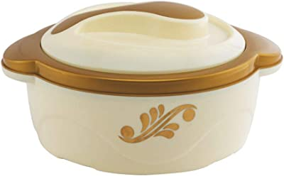 FABLE Nabhya Plastic Cook and Serve Hot Casserole (1500Ml, Yellow)