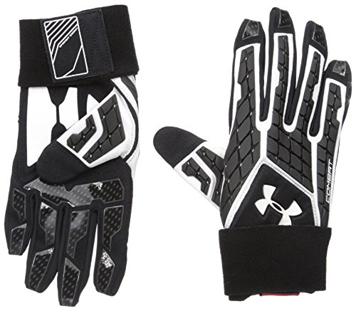 Under Armour Men's Combat V Football Gloves, White/Black, Small