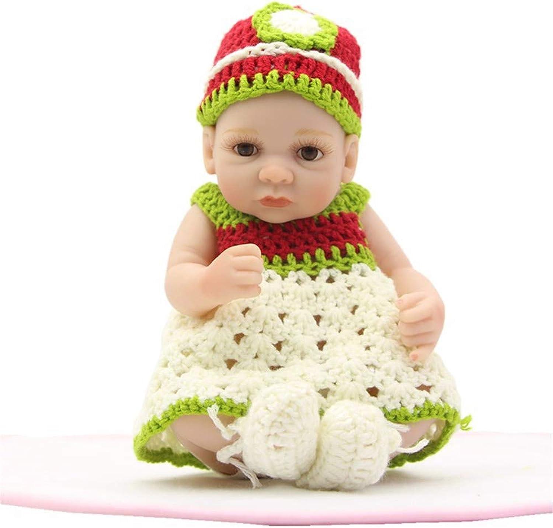 Unexceptionable-Dolls Babypuppen,Lebensechte Reborn Alive Girl Puppe 27cm Silikon Ganzkrper Handgemachte Neugeborene Puppe Baby Spielzeug Für Kindergeburtstagsgeschenk Beste Playmate, Braune Augen