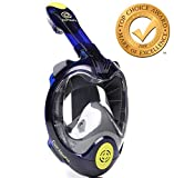 Full Face Snorkel Mask 2020 Panoramic 180 View Anti-Fog Anti-Leak System Set Snorkeling Diving Mask for Adults and Youth with Action Camera Mount