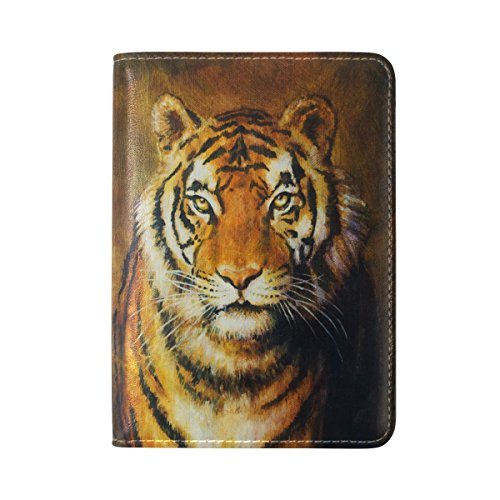 Vintage Tiger Waterproof Boarding Pass Travel Passport Covers Holder Case Protector