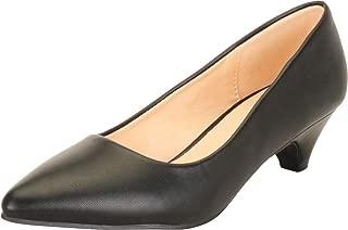 Cambridge Select Women's Pointed Toe Slip-On Low Heel Pump