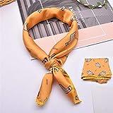 Miner Hair Scarf Tie Animal Print Satén Pequeño Anillo de Seda Cuadrado Cuello Bufanda Cabeza Bufanda, 4,50cmx50cm