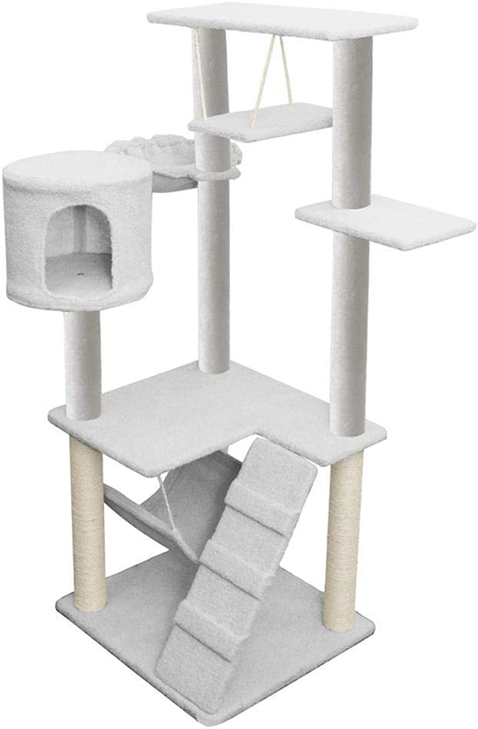 Aoligei Cat Play Towers & Trees Station Cat furniture Large cat tree Pet supplies Plush 55  50  137cm