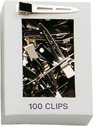Fripac-Medis Stahl-Haarclips, einschenklig, lang, Schachtel mit 100 Stück