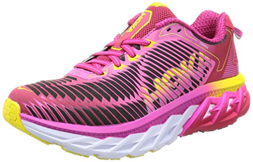 HOKA ONE ONE Women's Arahi Running Shoe, Virtual Pink/Neon Fuchsia Size 6