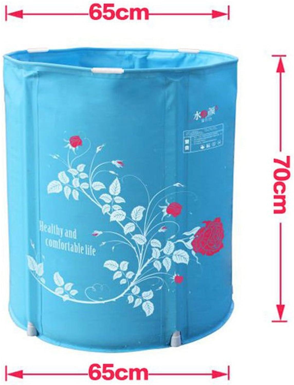 Die Faltung Dusche und Badewanne Wanne Badewanne nach starkem Kunststoff Badewanne Wanne Badewanne Eimer, blau, 65  70 cm