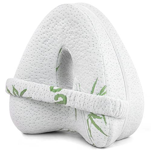 JIRVY Kniekissen für Seitenschläfer Ergonomisches Seitenschläferkissen Memory Foam Kissen für Seitenschläfer stützt Beine (Weiß1)