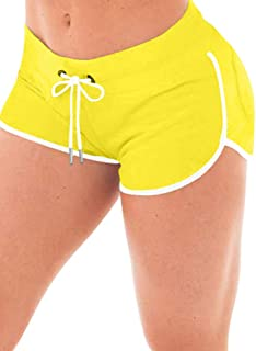 XXTAXN Women's Sexy Booty Running Workout Yoga Shorts Club Hot Pants with Back Pockets