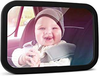 MYSBIKER Baby Backseat Mirror,360°Rotation and Shatterproof,Rear View Baby Kids Car Mirror with Dual Adjustable Straps,Cle...