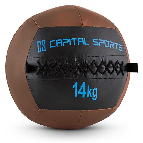 CapitalSports Wallba 14 Balón Medicinal Cuero sintético