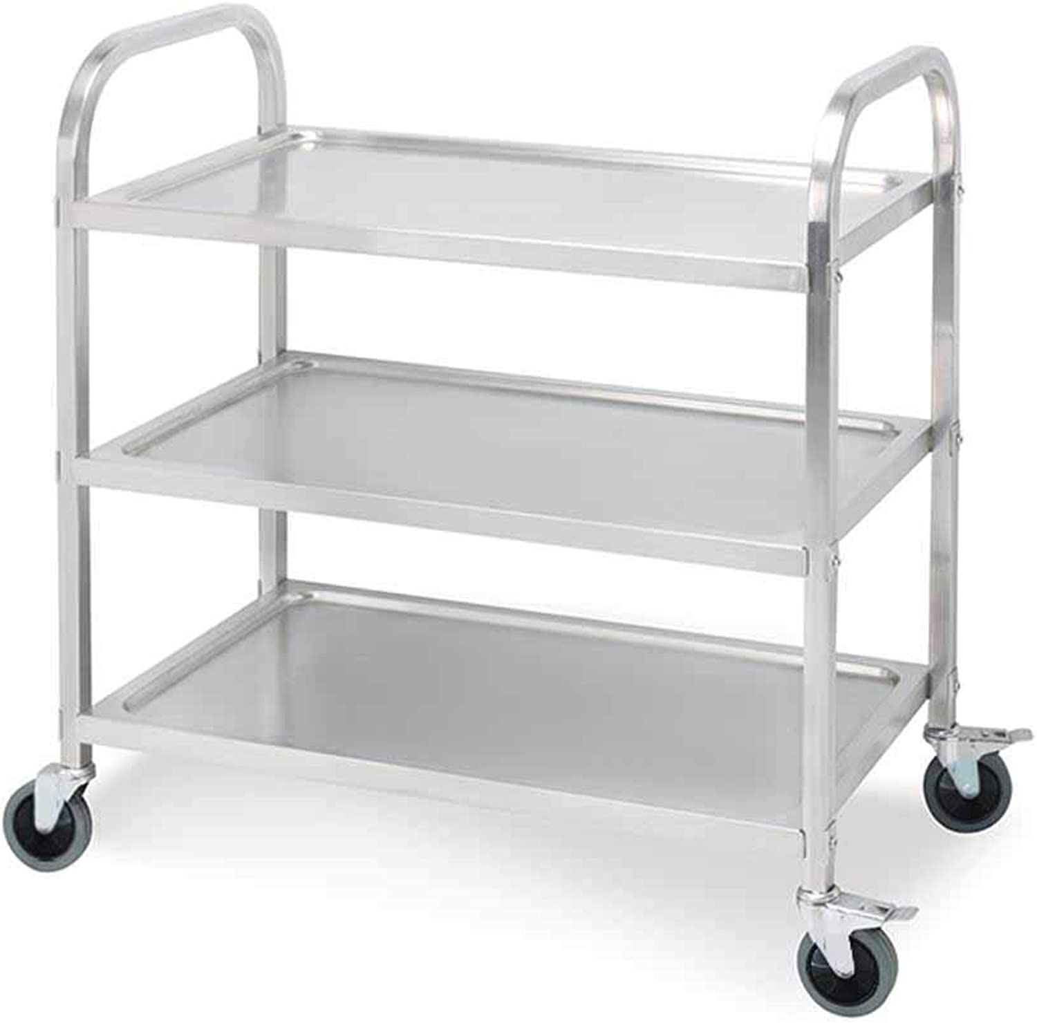 SOGA 3 Tier Stainless Steel Kitchen Dining Food CART Trolley Utility Size 850×450×900