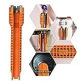 ZAOPP Herramienta De La Llave del Grifo del Fregadero De Instalación del Tubo De Agua For Los Fontaneros Los Propietarios De Viviendas (Color : Orange)