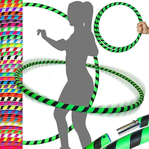 Ultra Grip Pro Hula Hoops (100 cm) con peso UV para viajes, hula hula hoop/hula hoops para ejercicio, danza y fitness. (680 g), no necesita instrucciones., Hombre, LED Euphoria