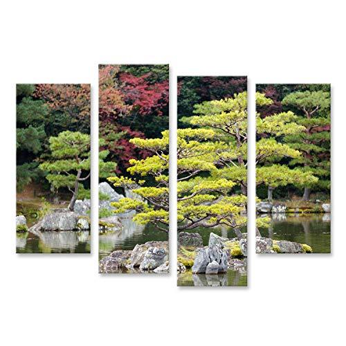 islandburner Cuadro Cuadros Jardín Zen japonés en el Parque del Templo kinkakuji Kyoto Genial y Muy Bonito! MQG
