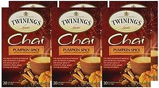 3 x Packs Pumpkin Spice Chai 20 Tea bags