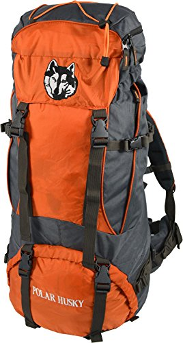 Polar Husky® Trekking-Rucksack Wanderrucksack mit Aluminium-Rahmen 65-75 Liter Farbe Bobo
