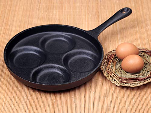 Waykea 4-Cup Cast Iron Fried Egg Pan