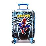 WCK 19 Inch Unisex Carry on Luggage Marvel Spiderman Spinner Hardshell Suitcase TSA Lock Travel Luggage (Blue Spiderman)