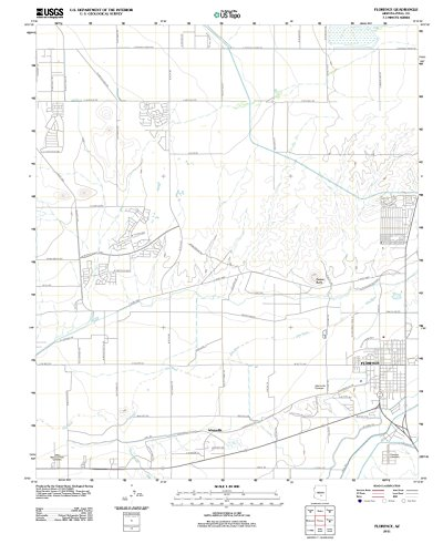 Arizona Maps - 2011 Florence, AZ - USGS Historical Topographic Wall Art - 44in x 55in