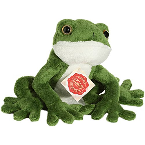 Hermann Teddy Collection 920205 - Plüsch-Frosch, 15 cm