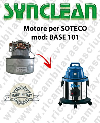 Base 101 zuigmotor Synclean voor stofzuigers van Soteco.