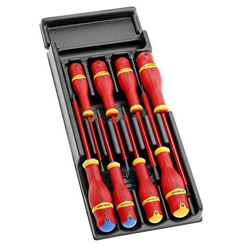 Facom MOD.AT1VE AT1VE-Juego de 8 Destornilladores aislados 1000V en módulo de plástico